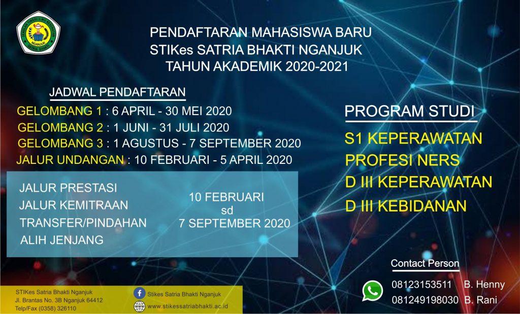 Pendaftaran Mahasiswa Baru 2020/2021